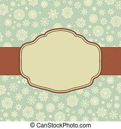 eps, クリスマス, レトロ, 8, template., カード