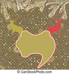 eps, 定型, deer., スピーチ, 8, クリスマスカード