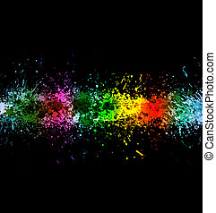Eps 10 color paint splashes. Gradient vector background on...