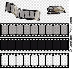 eps., 10, set, .vector, illustrazione, vettore, striscie, film