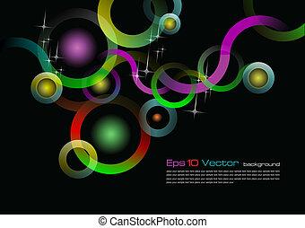 Eps 10 vector black background