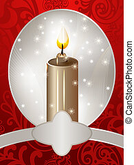 vector christmas card with a candle