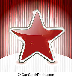 eps 10, vector christmas star on abstract grunge background with stripes