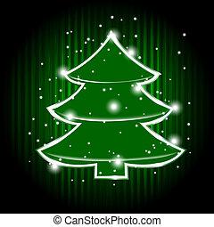 vector christmas tree and stars