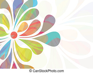 Colorful floral background - EPS 10 vector file Colorful...