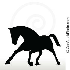 EPS 10 Vector - horse silhouette in running position