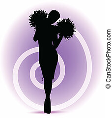 EPS 10 Vector illustration - funky cheerleader silhouette