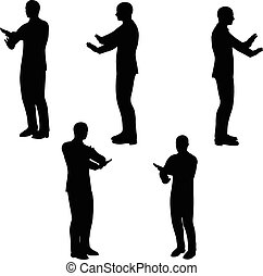 EPS 10 Vector illustration in silhouette of businessman no way