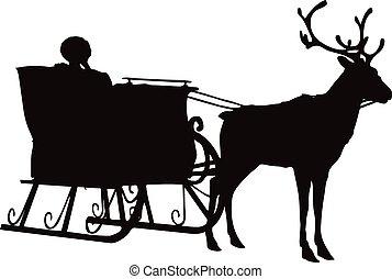 silhouette of santa