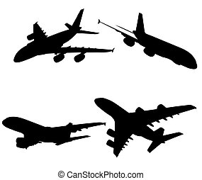 A380 on white background