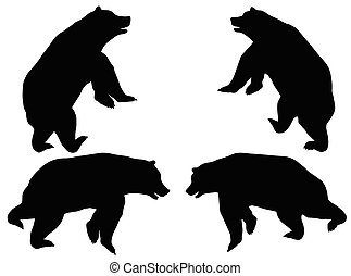 vector illustration of Bear silhouette