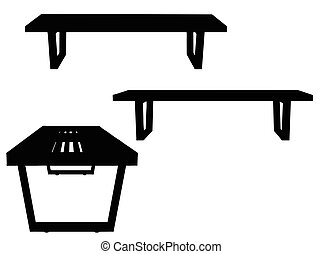 Bench silhouette on white background - EPS 10 vector...
