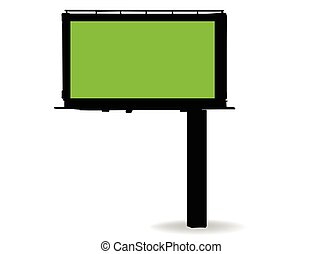 billboard silhouette on white background