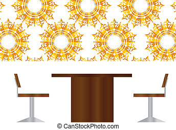 business people meeting sitting silhouette - EPS 10 Vector...