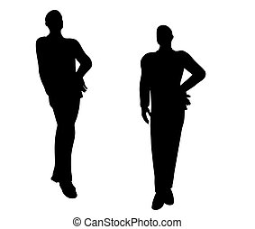 businessman boy silhouette in Standing pose