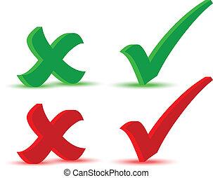 Check marks - EPS 10 Vector Illustration of Check marks