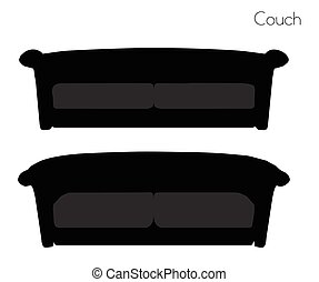 couch on white background