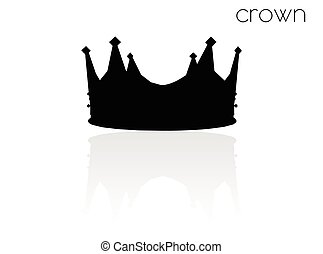 crown silhouette on white background