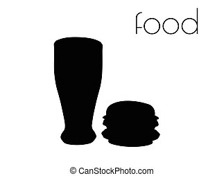 food silhouette on white background