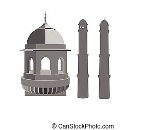mosque silhouette on white background