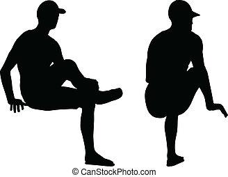 sportive man silhouette