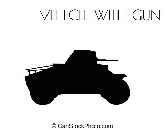 vehicle silhouette on white background
