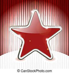 eps, 10, vetorial, natal, estrela, ligado, abstratos, grunge, fundo, com, listras