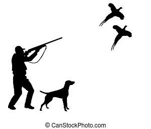 .eps, cazador