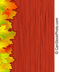 eps, colorato, vettore, file, cadere, included, 8, leaves.