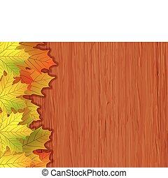 eps, colorido, vetorial, arquivo, outono, included, 8, leaves.
