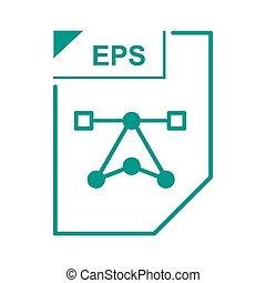 EPS file icon, cartoon style