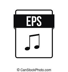 EPS file icon, simple style