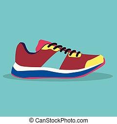 eps., flat., sinal., web., ui., app., sneakers, vector., icon., ícone, logo., art.