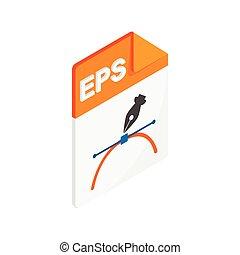 EPS icon, isometric 3d style