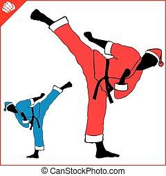 Immagini Karate Natale.Eps Karate Donna Silhouette Scene Marziale Vector