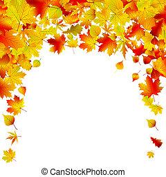eps, odizolowany, jesień, tło, 8, design.