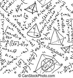 eps, seamless, achtergrond, 8, formulas., wiskunde