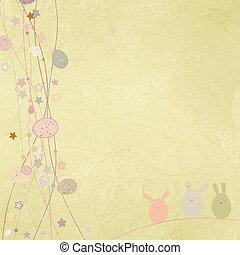 eps, space., 8, másol, húsvét, kártya