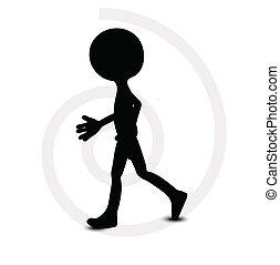 3d man in walking pose
