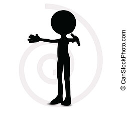 3d man in zero pose - EPS Vector 10 - 3d man in zero pose