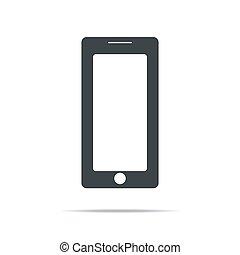 eps10, écran, blanc, vide, réaliste, isolé, mobile, arrière-plan., téléphone, vecteur, illustration