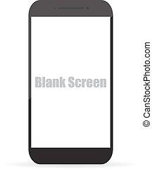 eps10, écran, illustration, vecteur, vide, smartphone.