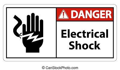 eps.10, électrique, symbole, illustration, fond blanc, choc,...