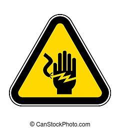 .eps10, électrocution, illustration, signe, symbole, choc,...