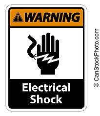 eps.10, électrocution, isoler, symbole, choc, fond,...