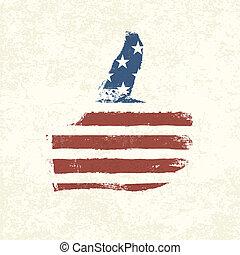 eps10, のように, 形づくられた, flag., アメリカ人, ベクトル