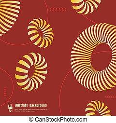 eps10, カラフルである, 抽象的, 形。, イラスト, ベクトル, 3d