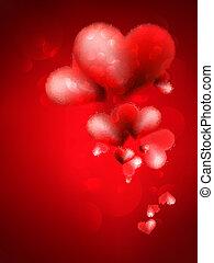 eps10, +, バレンタイン, heart., 日, カード