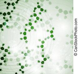 eps10, 分子, 抽象的, イラスト, 細胞, dna, 未来派