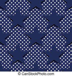 eps10, 星, パターン, seamless, theme., 旗, vector., アメリカ人, 株